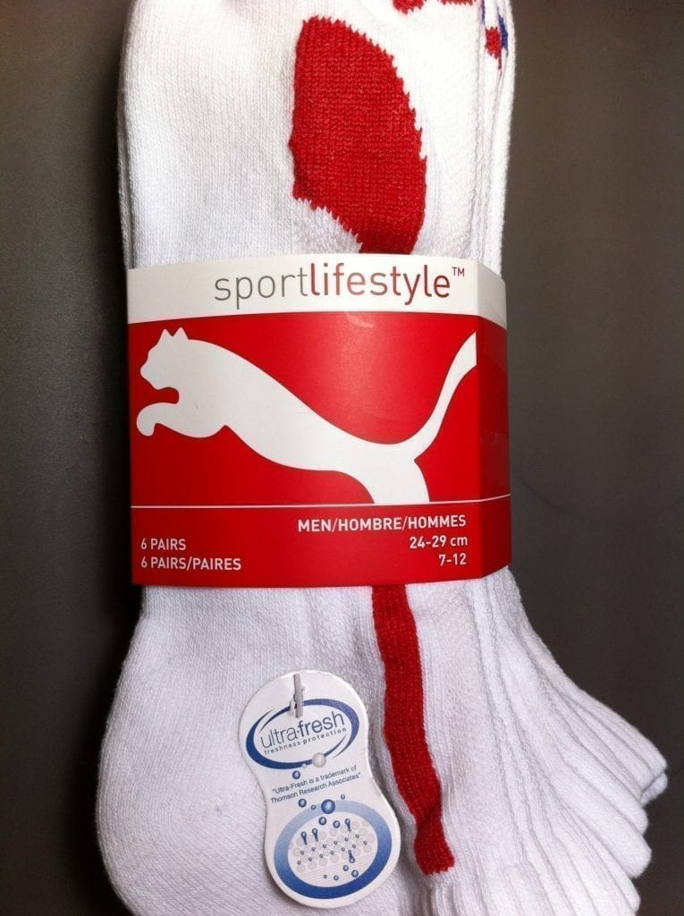 Antibacterial sports socks by Puma