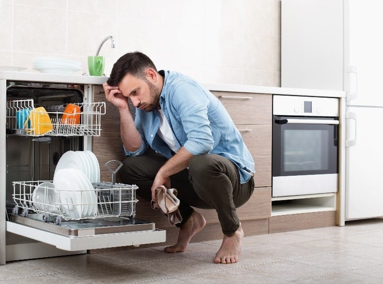 Why is there mold in the dishwasher?