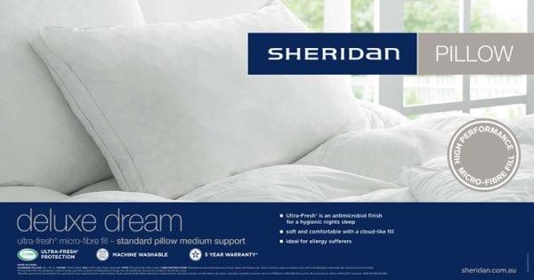 Sheridan pillow with Ultra-Fresh
