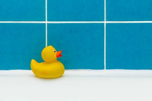 Mold can grow inside bath toys